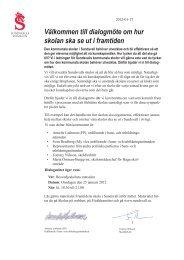 Välkommen till dialogmöte om hur skolan ska se ut i ... - Sundsvall
