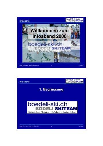 Präsentation Infoabend 9.6.07 - Bödeli Skiteam