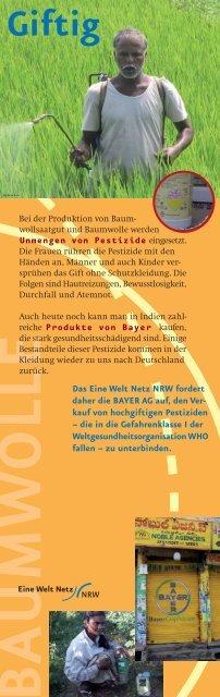 baumwolle - Eine Welt Netz NRW