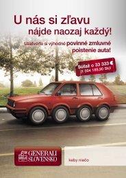 Leták SK - Generali Slovensko poisťovňa, a. s.
