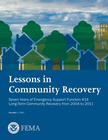 Lessons in Community Recovery. - ABAG Earthquake and Hazards ...