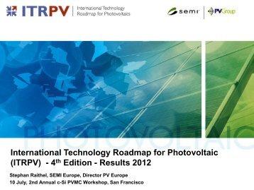 International Technology Roadmap for PV - PVMC