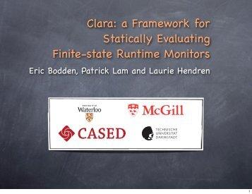 Clara - Eric Bodden, Ph.D.