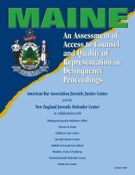 Maine: An Assessment of Access to Counsel and - National Juvenile ...