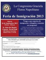 Feria de Inmigración 2013 - Congresswoman Grace Napolitano