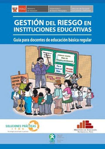 Gestión del Riesgo en instituciones educativas - Ministerio de ...