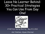 Leave No Learner Behind - StarTalk
