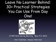 Leave No Learner Behind - StarTalk