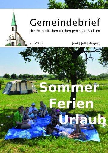 Gemeindebrief 13-2.qxd - Evangelische Kirchengemeinde Beckum