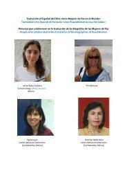 Traducción al Español del libro «1000 Mujeres de Paz en el Mundo ...