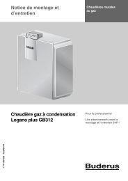 Notice de montage et d'entretien Chaudière gaz à ... - Buderus