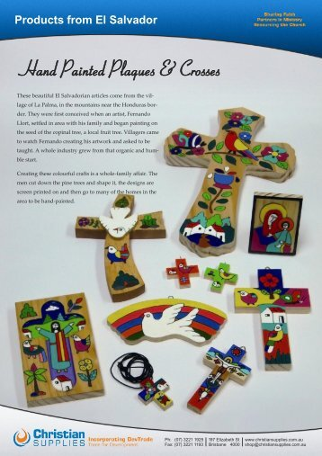 Products from El Salvador - Christian Supplies