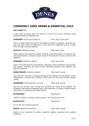 A-Z Guide to Herbs and Essential Oils - Denes Natural Pet Care
