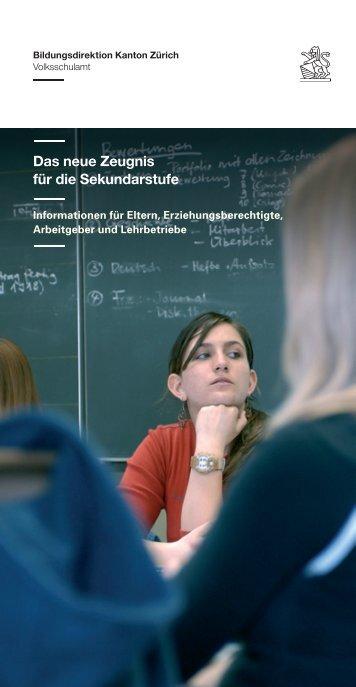 Das neue Zeugnis für die Sekundarstufe - Schule Dietlikon