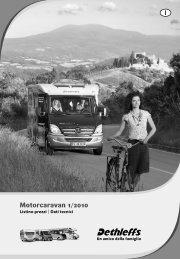 Listino prezzi Motorcaravans 2010 - Dethleffs