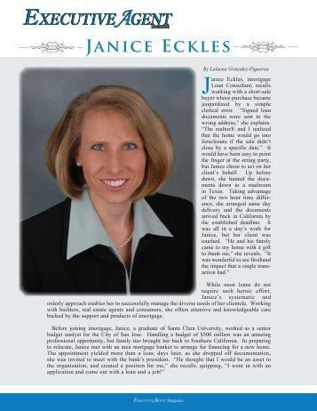 Janice Eckles - Executive Agent Magazine