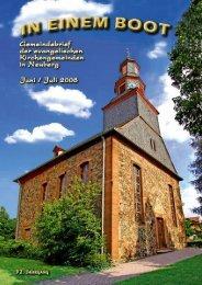August 3. - Kirche Neuberg