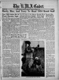 The Cadet. VMI Newspaper. December 01, 1952 - New Page 1 ...