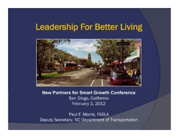 Morris - New Partners for Smart Growth Conference