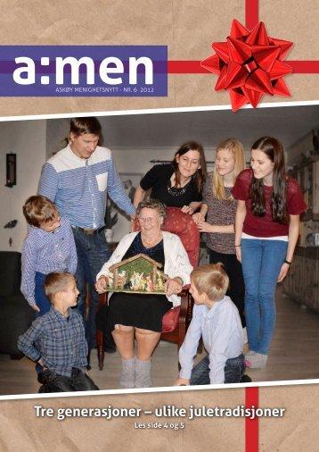 Tre generasjoner – ulike juletradisjoner - kirken på Askøy