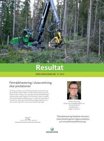 Resultat 13-2012 - Skogforsk