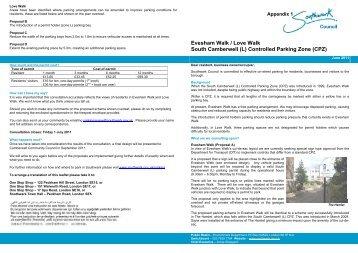 Appendix 1 Evesham Walk consultation, item 12. PDF 1 MB