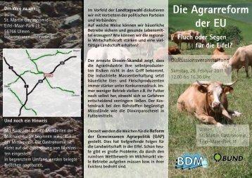 Einladungsflyer - Bundesverband Deutscher Milchviehhalter eV