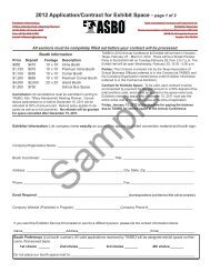 2012 Application/Contract for Exhibit Space - page 1 of 2 - Texas ...