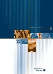Rapport annuel de gestion - 2001 - Société de l'assurance ...