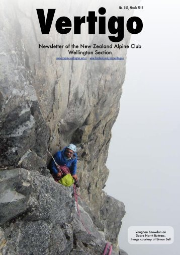 Newsletter of the New Zealand Alpine Club Wellington Section