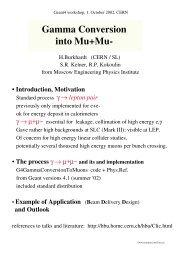 Gamma Conversion into Mu+Mu- - Geant4 - CERN