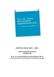 OPINTO-OPAS 2011 – 2012 - Lahden ammattikorkeakoulu