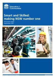 Smart and Skilled: making NSW number one - State Training ...