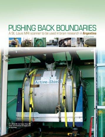 Pushing Back Boundaries - Mallinckrodt Institute of Radiology
