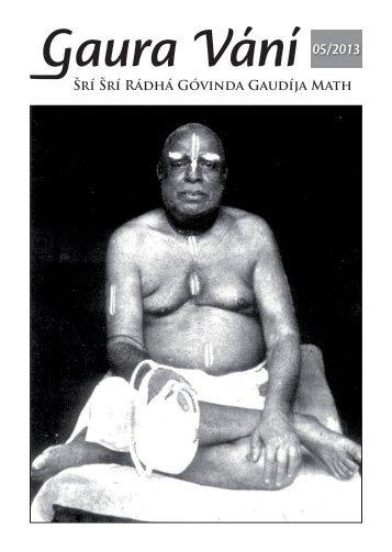 Gaura Vání 05-2013 - Sri Sri Radha Govinda Mandir