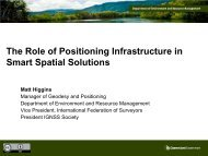 The Role of Positioning Infrastructure in Smart Spatial ... - Data Smart