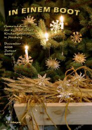 Dezember Januar 14. 7. 21. - Kirche Neuberg