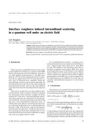 Interface roughness induced intrasubband scattering in a quantum ...