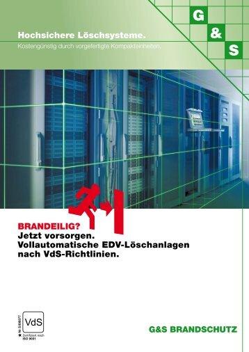 G&S EDV-LÖSCHANLAGEN Produktblatt als PDF