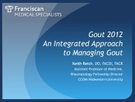 Gout 2012 An Integrated Approach to Managing Gout Keith Reich