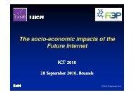 The socio-economic impacts of the Future Internet Future ... - FI3P