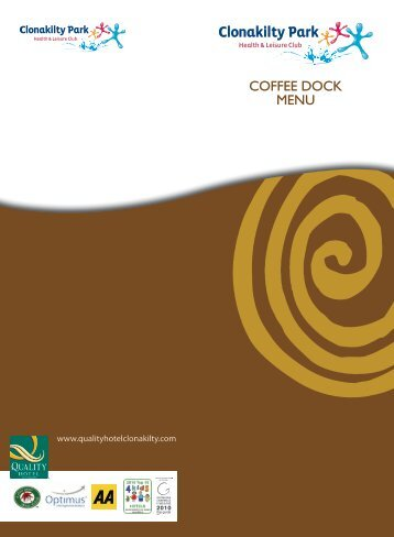 COFFEE DOCK MENU - Quality Hotel and Leisure Centre