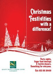 Christmas Festivities - Quality Hotel and Leisure Centre