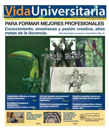para formar mejores profesionales - Universidad Rafael Landívar