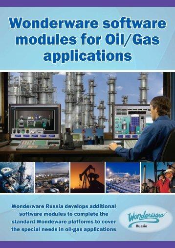 Wonderware software modules for Oil/Gas applications - Klinkmann.