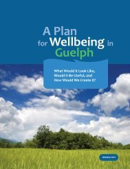 A Plan for Wellbeing in Guelph - Tamarack
