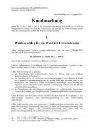 Kundmachung - Stadtschlaining