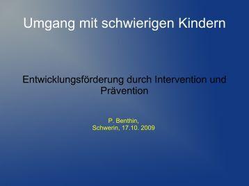 2. Prävention durch Unterrichtsfluss - Kinderzentrum Mecklenburg