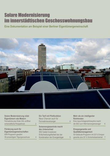 Solare Modernisierung im innerstädtischen ... - Scienzz