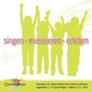 Chorschule Leichlingen - Flyer - kath. Pfarrgemeinde St. Johannes ...